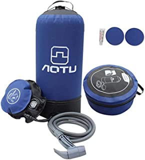 AMERTEER 11L Pvc Pressure Shower With Foot Pump Lightweight Outdoor Inflatable Shower Pressure Shower Water Bag For Outdoo...