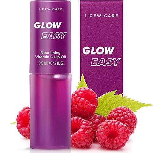 I DEW CARE Glow Easy Vitamin C Tinted Lip Oil Gloss with Jojoba Seed Oil | Korean Skincare, Vegan, Cruelty-Free, Gluten-Free, Paraben-Free
