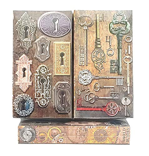"""Decorative Matches, (Set of 3 Match Boxes) Long Wooden Matches,Strike Strip on Side of Box- Colored Match Tips- Candle and Fireplace Wooden Matches 4.375"""" x 2.35"""" x .75"""" (Lock & Key)"""