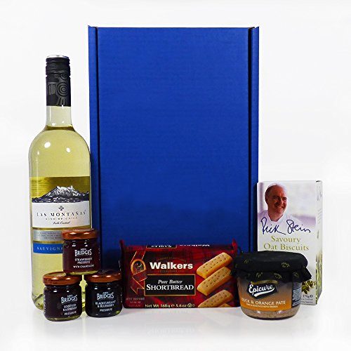 Las Montanas White Wine and Nibbles Gift Box - Gift ideas for Christmas, Valentines, Mothers Day, Birthday, Wedding, Anniversary, Thank You, Business and Corporate