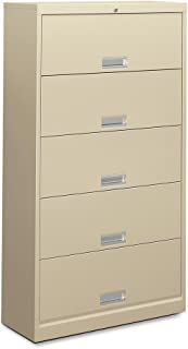 HON 625LL 600 Series Five-Shelf Steel Receding Door File, 36w x 13-3/4d x 64-1/4h, Putty