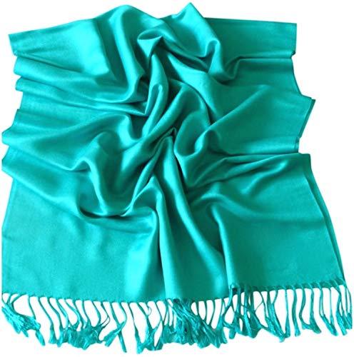 CJ Apparel CJ Apparel Blaugrün Einfarbiges Design Stola Schal Umschlagtuch Schultertuch Tuch Neu