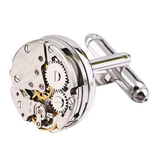 HYHAN Upscale Mens mode Manchetknopen Horloge Beweging Vorm Manchetknopen Kom In Een Elegante Opslag Display Box - in Elke gelegenheid Be