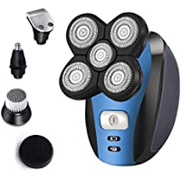 Roziahome Rechargeable Bald Head Shaver 5 in 1 Grooming Men Kit