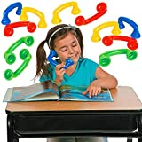 4E's Novelty Whisper Phones for Reading [16 Pack] Auditory Feedback, Hear Myself Sound Phone - Accelerate Reading Fluency, Comprehension & Pronunciation - Speech Therapy Toys