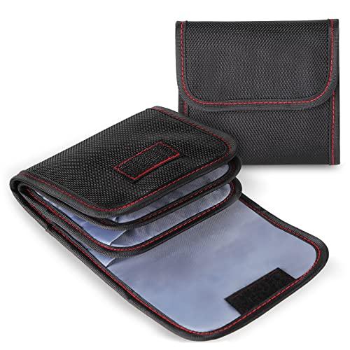 DomeStar 3-Pocket Camera Lens Filter Carry Case Bag Pouch