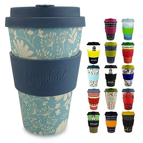 Morgenheld Vaso de bambu moderno | vaso para llevar | vaso para...
