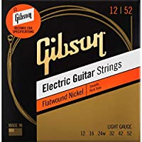 Gibson ギブソン Flatwound Electric Guitar Strings (Light/12-52) [SEG-FW12]