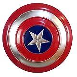 Getrichar Capitán América Escudo Superhéroe Retro Accesorios de Disfraces Decoración de Pared de Hierro Accesorios de Cosplay Disfraz Escudo Halloween Adulto Niño Niño Juguete