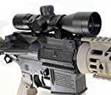 Trinity 4x32 Compact Scope with Ring Mounts Fits Tippmann TMC woodsball Marker Paintball Optics Tactical Accessory Paintballer Gear Paintballing Upgrades Aluminum Black Picatinny Weaver Mount Adapter