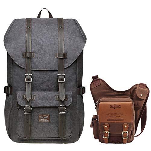 KAUKKO Laptop Outdoor Backpack,Traveling Rucksack | KAUKKO Canvas Shoulder...