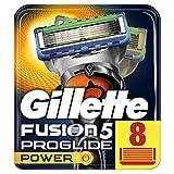 Gillette Männer Fusion5 ProGlide Power Rasierklingen, 1er Pack (1 x 8 Stück)