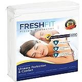 FRESHFIT Premium Bamboo Queen Size Mattress Protector - Waterproof &...