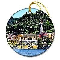 イタリアコモバレンナクリスマスオーナメントセラミックシート旅行お土産ギフト
