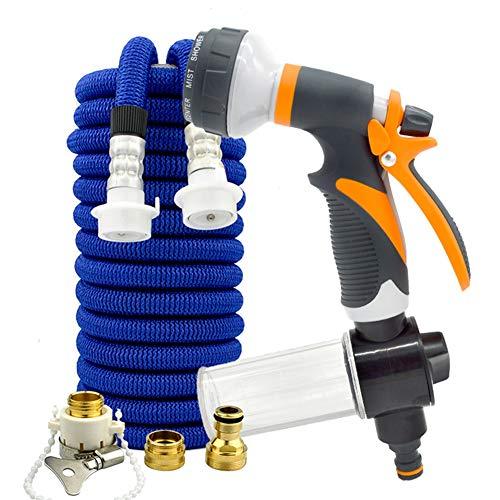 Tuinslang Spuitpistool met hoge druk Spuitpistool, voor auto & huisdier wassen/water geven gazon en tuin/zijwandreiniging 100FT/30m+foampot ORANJE
