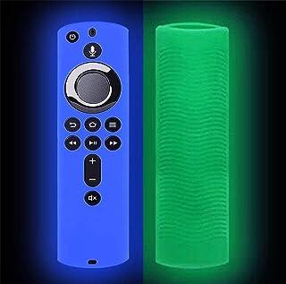 Aliturtle Luminous Protective Cover for Amazon Fire TV Stick 4K Remote Control, Luminous Soft Silicone Anti Slip Shockproo...