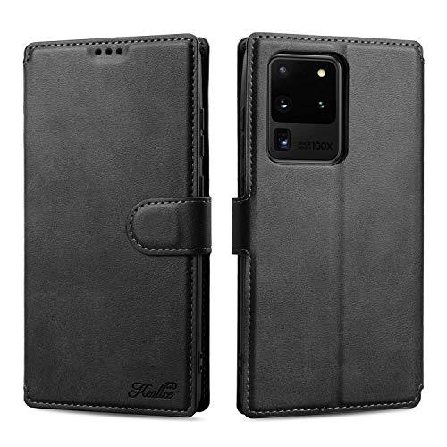 Keallce für Samsung Galaxy S20 Ultra Hülle, Handy Lederhülle PU Leder Hülle Brieftasche Handytasche Cover Kompatibel für Samsung Galaxy S20 Ultra Ledertasche-6.9