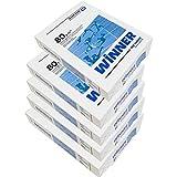 Winner -Caja 5 paquetes de 500 folios 2500 hojas de A-4 80g