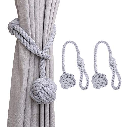 Dyna-Living Vorhang Raffhalter Gardinenhalter Seil Vorhanghalter Curtains Tie Backs Raffhalter Clip Curtain Holdbacks