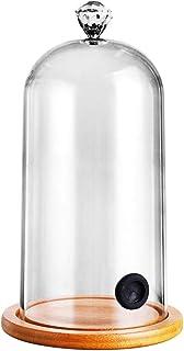 GaoYunQin Cocktails fumées Pistolet Affichage en Verre Cloche en Dôme pour Les Boissons Alimentaires avec Base en Bois, de...