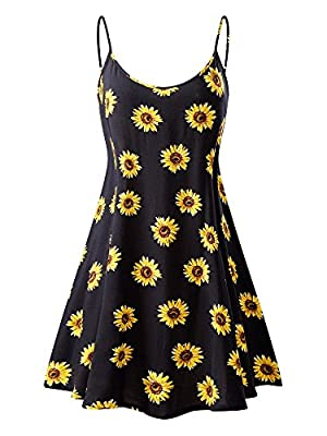 MSBASIC Women's Sleeveless Adjustable Strappy Summer Beach Swing Dress