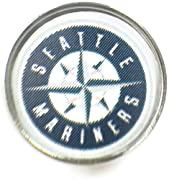 Fits 18MM - 20MM Snap Jewelry Baseball Lovers Bling Interchangeable Snap Charm Seattle Mariners Support your favorite MLB Team