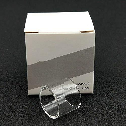LITAO-EC, 2 Stücke Ersatz Pyrex Glasrohr Für Kanger Protank 5 Zerstäuber Verdampfer Fit Subox Mini-C Starter Kit 50 Watt KBOX Mini-C Mod, Frei von Tabak und Nikotin (Farbe : Klar)