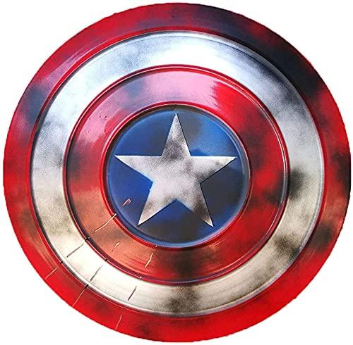 HLWJXS Capitán América Shield Full Metal 1: 1 Versión de película Avengers Handheld Props Modelo Decoración Réplicas Miracle Props Modelo Decoración