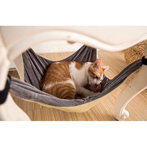 Cama de hamaca para gatos - Suave y cómoda hamaca de mascota...