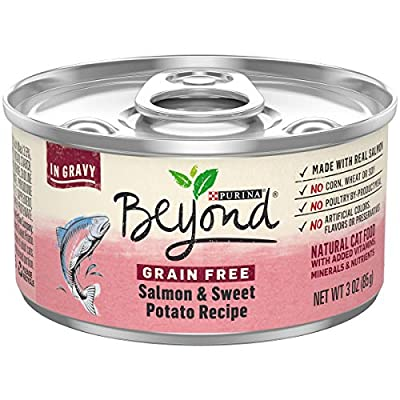 Purina Beyond Grain Free, Natural Gravy Wet Cat Food, Grain Free Salmon & Sweet Potato Recipe - (12) 3 oz. Cans