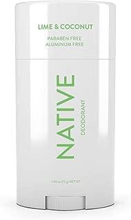 Native Deodorant - Natural Deodorant - Vegan, Gluten Free, Cruelty Free - Free of Aluminum, Parabens & Sulfates - Born in the USA - Coconut & Lime