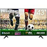 Hisense Uhd TV 2020 43A7100F - Smart TV Resolución 4K, Precision Colour, Escalado Uhd con Ia, Ultra Dimming, Audio Dts Studio Sound, Vidaa U 4.0, Compatible Alexa, Negro