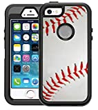 Teleskins Protective Designer Vinyl Skin Decals/Stickers Compatible with Otterbox Defender iPhone 5/5S/Se Case -Baseball Design Patterns - only Skins and not Case