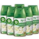Air Wick Freshmatic - Recambios de ambientador spray automático, esencia para casa con aroma a White Bouquet - Pack de 6