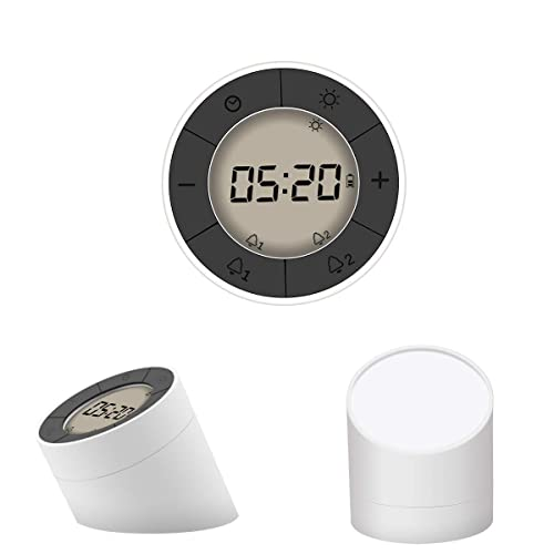 Digital Alarm Clock, GLISTENY Smart Alarm Clock LED Flip Self-Sensing Dimmable Bedside Lamp Smart Backlight Two sets of alarm clock Unlimited Snooze for bedroom Hiking Energy efficiency class A+