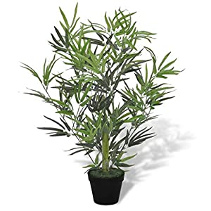 New 31″ Artificial Bamboo Tree w/Pot Plant Potted Home Decor Patio Fake Floral Decor
