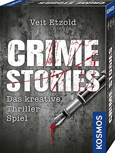 KOSMOS 695224 Veit Etzold - Crime Stories, Das kreative Thriller-Spiel, Krimi Kartenspiel, spannende Rätsel ab 16 Jahre