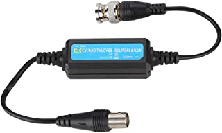 Tangxi CCTV Ground Loop Isolator, BNC Male to Female Coaxial Ground Loop Isolator,Mini HD TVI/CVI/AHD/CVBS Video Balun Coaxial for Camera