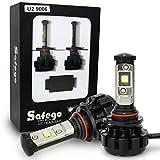 Safego 2x 9006 HB4 Faro Bombillas Alquiler de luces LED W 8000LM brillante estupendo de la lámpara con la viruta del Cree para el coche/Van/Camión/vehículo Car Auto