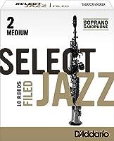 CAムAS SAXOFON SOPRANO - DエAddario Rico Select Jazz (Dureza 2 Media) Filed (Caja de 10 Unidades)