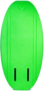 Hydroslide Versa 2 57 Inch Kids and Adults Beginner Wake Surfing Tow Behind Kneeboard Wakeboard Water Sports Board, Green