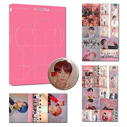 BTS Map Of The Soul-Persona VER 2 With Folded Poster 10 HD Photocards 3 HD Stickers 1 Pin Badge