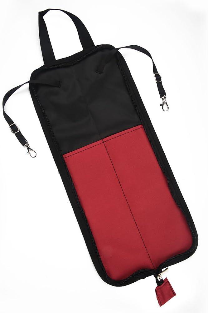 Bnineteenteam Drumstick Bag Drum Stick Holder Hanging Bag Portable Drum Stick Storage Case with Handle 5 Colors