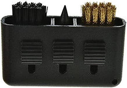 3-in-1 Golf Brush Groove Cleaner Pocket Size Plastic Club Kit Tool Black