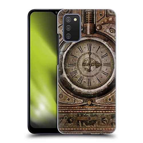 Head Case Designs sous Licence Officielle Simone Gatterwe Grunge Horloge Steampunk Coque Dure pour l'arrière Compatible avec Samsung Galaxy A02s (2021)