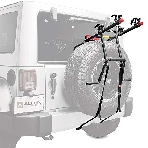 Allen Sports Deluxe 2-Bike Spare Tire Mounted Carrier, Model 322DN