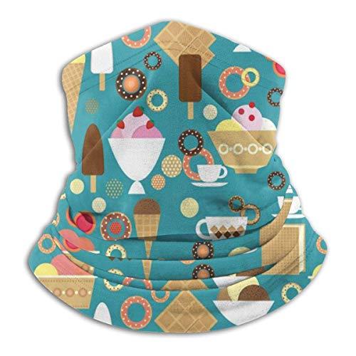 WH-CLA Chapeaux Crème Glacée Italienne Chapeaux Imprimés Festivals Vent Bandanas Protection Solaire Poussière Cou Guêtre Extérieur Moto Sport Multifonctionnel pour Femmes Hommes