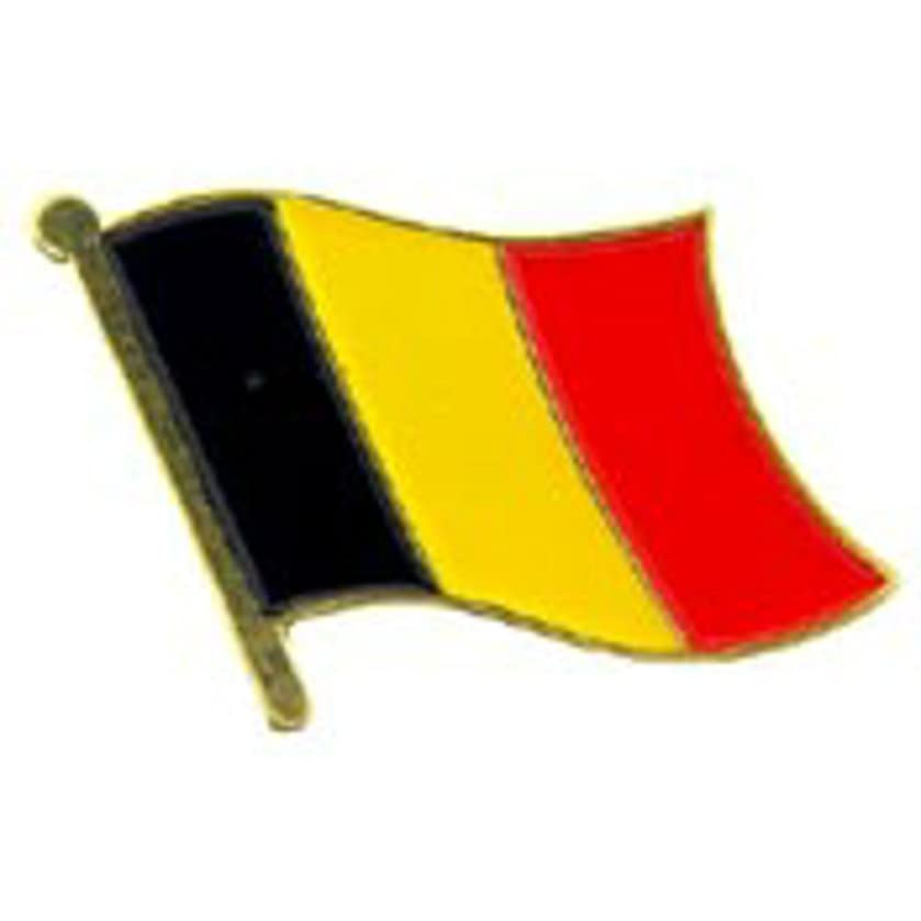 EagleEmblems P09511 PIN-Belgium (Flag) (1'')