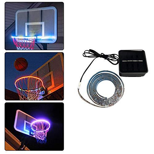 SUNJULY Luz LED de la Caja de Baloncesto, Lámpara de Aro de...