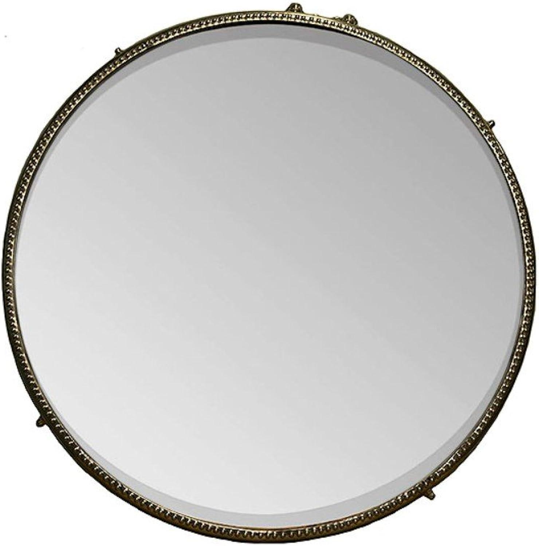 Benzara Decorative Iron Framed Round, Bronze Mirrors